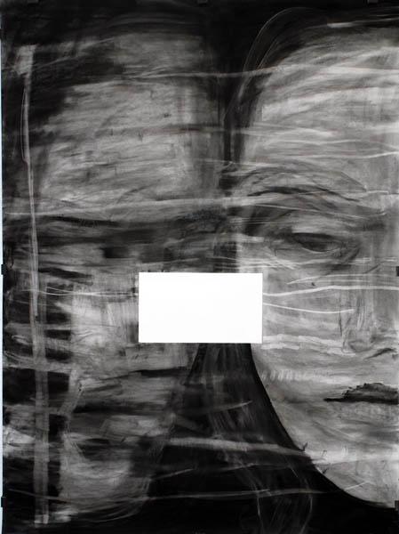 Kohlezeichnung Kopf Paar 150x200 2008